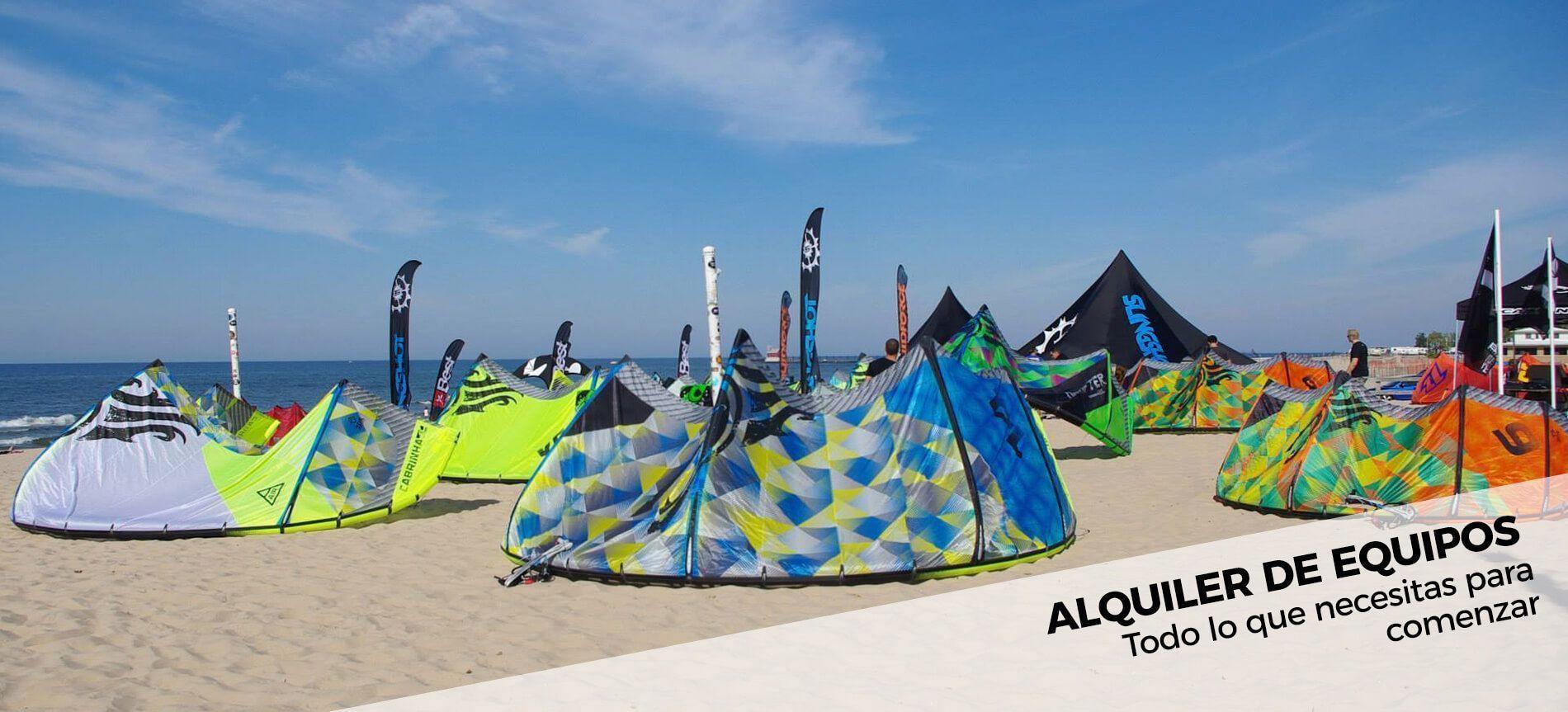 Alquiler de equipos para practicar kitesurf, todo lo que necesitas para comenzar a practicar en kite local school tarifa