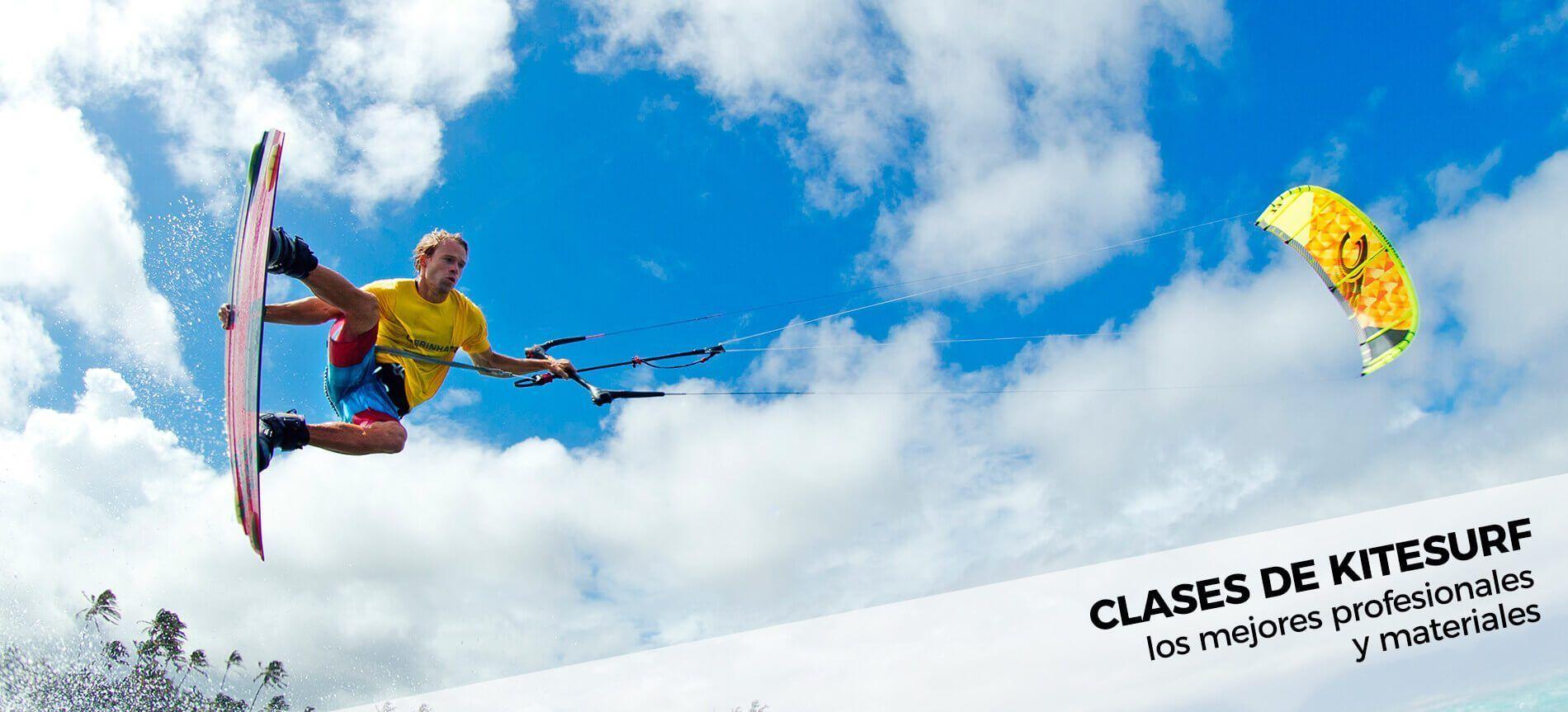 Alumno en Clase de kitesurf individual