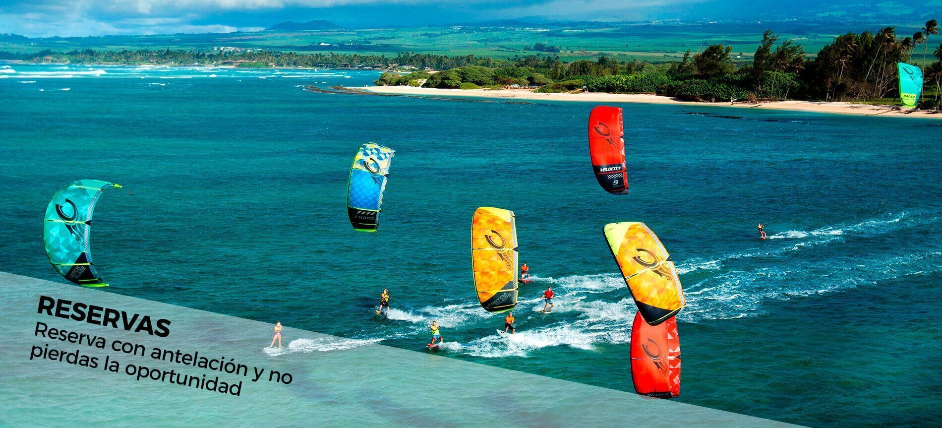reservas de cursos de kitesurf en kite local scool