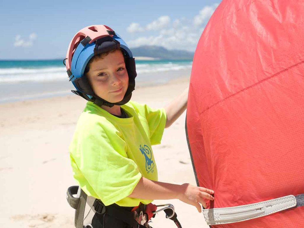 kitesurf un deporte para niños
